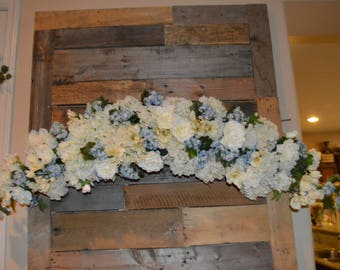 wedding arch, chuppah Arch,  Cross Arch, Silk Flower Arch, Wedding table backdrop, Silk Flower Backdrop, Silk Wedding Arch, White Arch,