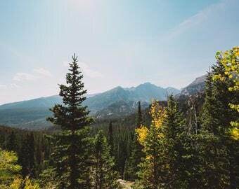 Colorado Mountains // Landscape Photography // Mounted Photo Print