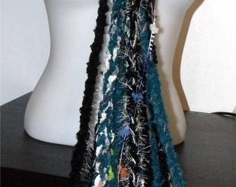 Multicolor scarf blended wool - Creation - elegant and feminine