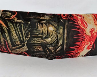 recycled comic book wallet, slim wallet, hanmade wallet, card holder, thin wallet, vinyl wallet, mens wallet, carnage venom