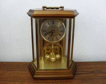 Vintage Harris And Mallow Verichron Quartz Mantle Clock Made In west Germany