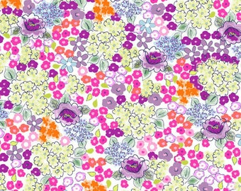 5 sheets of tissue liberty - pretty tissue paper with flowers