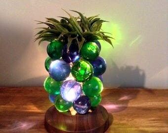 Vintage Lucite Grape Cluster Table Lamp / Lucite Pineapple Table Lamp / Acrylic Grapes Table Lamp / Retro / 1960's - 1970's