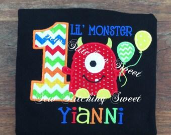 Monster Birthday Shirt, Little Monster Birthday Shirt, First Birthday Shirt, First Birthday Set, Second Birthday Shirt, Monster Birthday Set