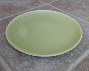Chartreuse Plate, Dinner Plate, Lime Green Plate, Harmony House, Ceramic Plate, Stoneware Plate, Vintage Plate, Vintage Stoneware, Green