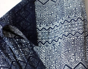COTTON BATIKI FABRIC,Techniques and Mix Design of Tradition Ethnic Hmong & Native Northern Thai.(C005)