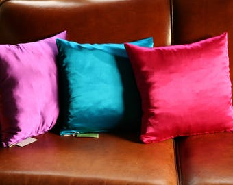 pillows, silk, purple, Fuchsia, blue,