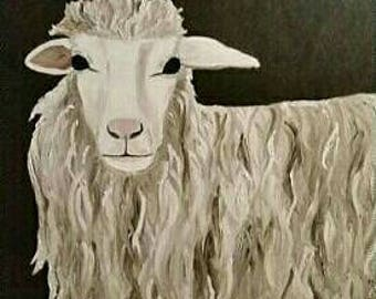 White Sheep - MADE TO ORDER - Oil Painting- Large