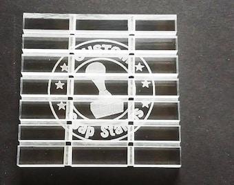 Custom Logo Acrylic Soap Dish / Tray
