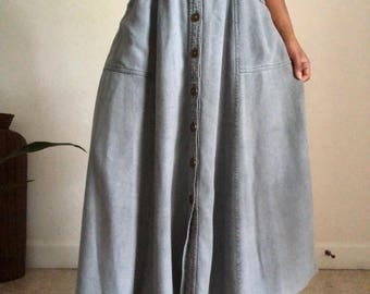 vintage button down skirt