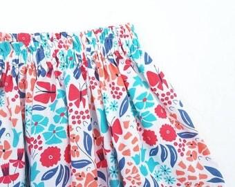 Floral skirt organic cotton