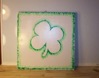 """Shamrock """"Luck of the Irish"""" Painting"""