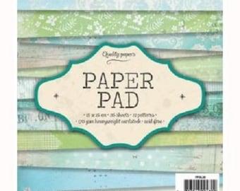 "Paper / pad ""Lagoon"" scrapbooking Paper"