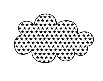 Stamp scrapbooking wooden - cloud and stars