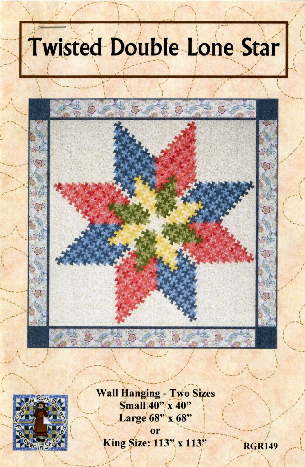 Twisted Double Lone Star Quilt Pattern Uses Twister Tool