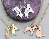 Pets Necklace • Dog Charm Cat Pet Family Two Pet Gift Dog Gold Cat Necklace Animal Charm Necklace Custom Pet Charm Rose Gold Pet