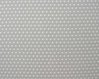 Solange beige fabric, white woven diamond pattern