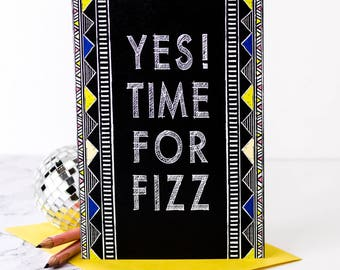 Time For Fizz Card; Congratulations Card; Celebration Card; Congrats; Well Done Card; GC521