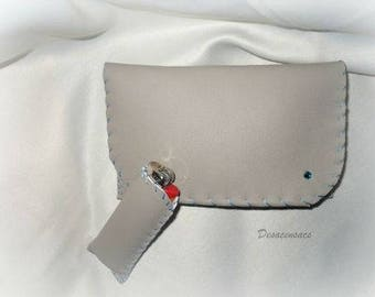 tobacco pouch, in very soft faux