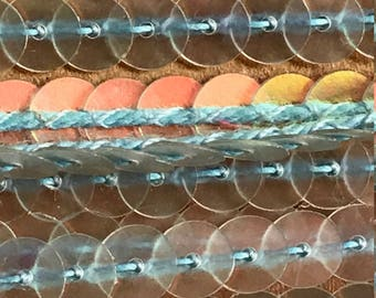 1 yard clear iridescent Sequin Trim