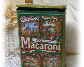 VINTAGE MACARONI TIN