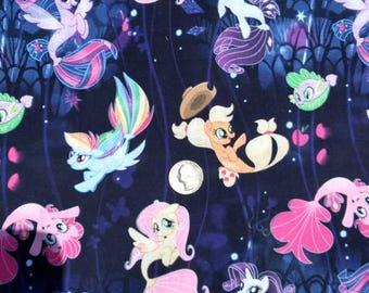 My Lil Pony Mermaid Fabric