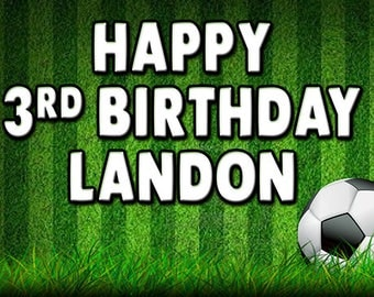 Soccer custom birthday banner