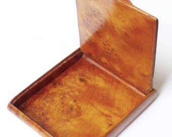 Vintage Burr Walnut Cigarette Case