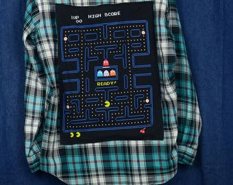 Upcycled Plaid Pac Man