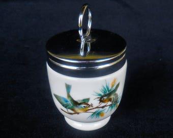 """Royal Worchester Porcelain Egg Coddler in the """"Birds"""" Pattern"""