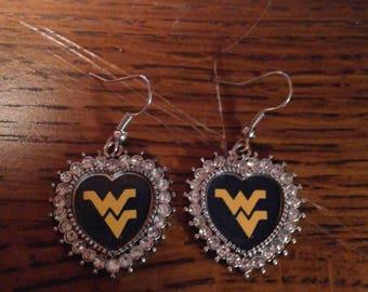 WV Heart Shaped Earrings