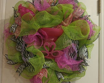 Summer Fun Deco Mesh Wreath