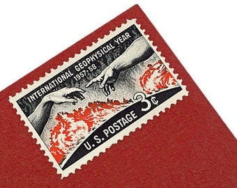 25 International Geophysical Year Stamps - 3c - 1958 - Unused Postage - Quantity of 25