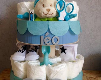 Diaper cake personalized little calf