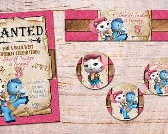 Sheriff Callie's Wild West  Invitation Personalized, Custom, You Print as many as u need digital