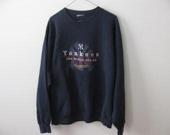 Vintage New York Yankees Sweatshirt Adult Mens Large