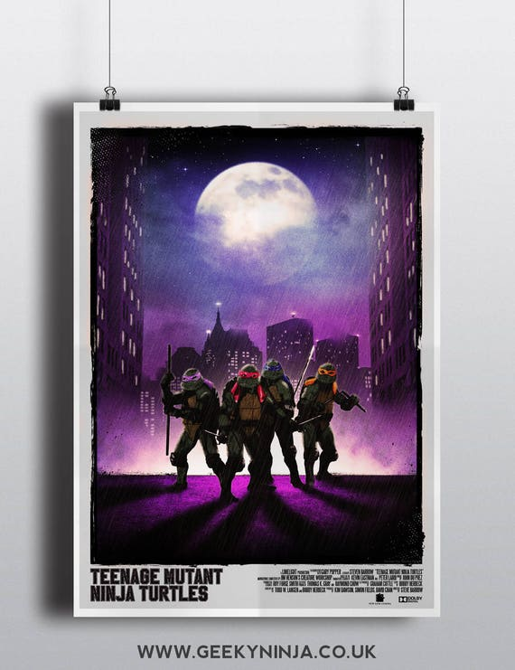 Teenage Mutant Ninja Turtles Inspired Movie Poster - TMNT Inspired Movie Poster - Vintage Movie Poster