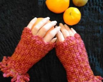 Multicolored boho gloves