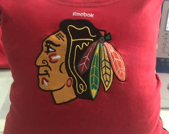 Chicago Blackhawks T-shirt pillow