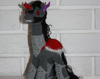 inspired by King Sombra from My Little Pony amigurumi