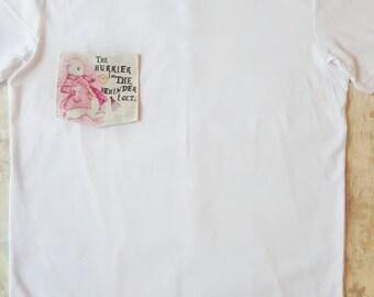 Alice in wonderland, tshirt, womens shirt, ladies tshirt, pink, white rabbit, slogan shirt, quote tshirt, funny tshirt, custom clothing