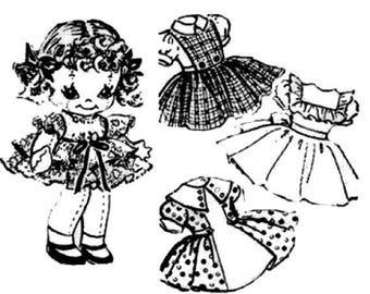 "9"" Cloth Doll with Dresses pattern"