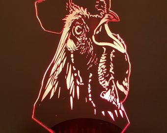 Lamp 3D design: rooster