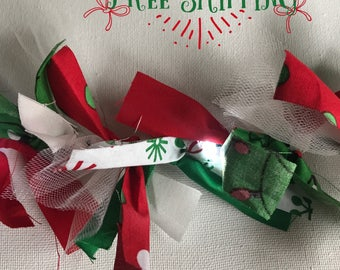 Holly Jolly light up Christmas garland