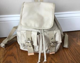 90s Small Backpack Drawstrings