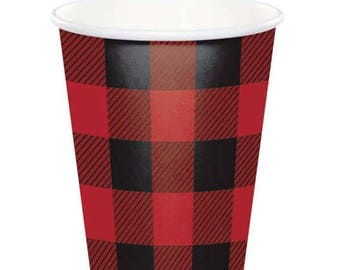 Buffalo Plaid party Cups   /Lumberjack party/ Lumberjack / woodland party/ lumber party/ buffalo cups