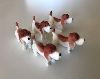 5 pc Beagle Puppy Cabochon