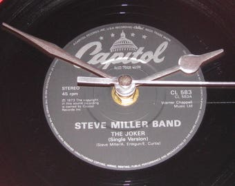 "Steve Miller Band the joker  7"" vinyl record clock"