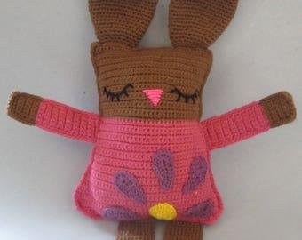 Bunny, Rabbit, Ragdoll, Crochet, Amigurumi Dolls, Great Gift, Bunny Pillow, Bunny Plush, Sleepy Bunny, Stuffed Animal, Bunny Dolls,  Rabbit