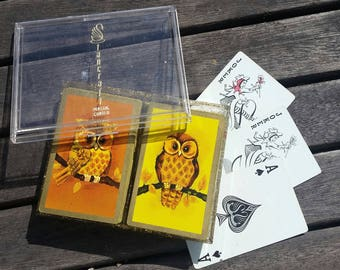 vintage double deck of STANCRAFT Playing Cards OWL